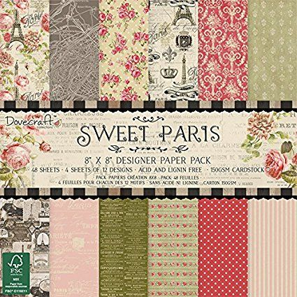 Dovecraft Sweet Paris Paper Pack