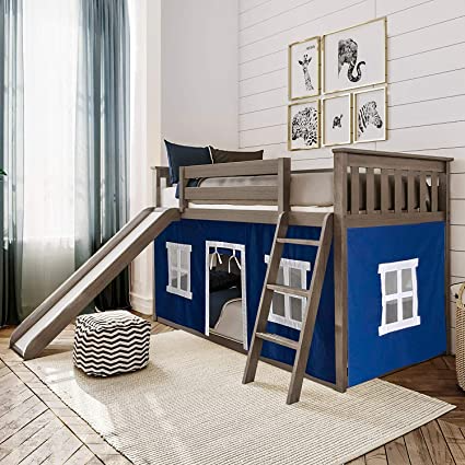 Max & Lily Twin Low Bunk with Slide, Clay