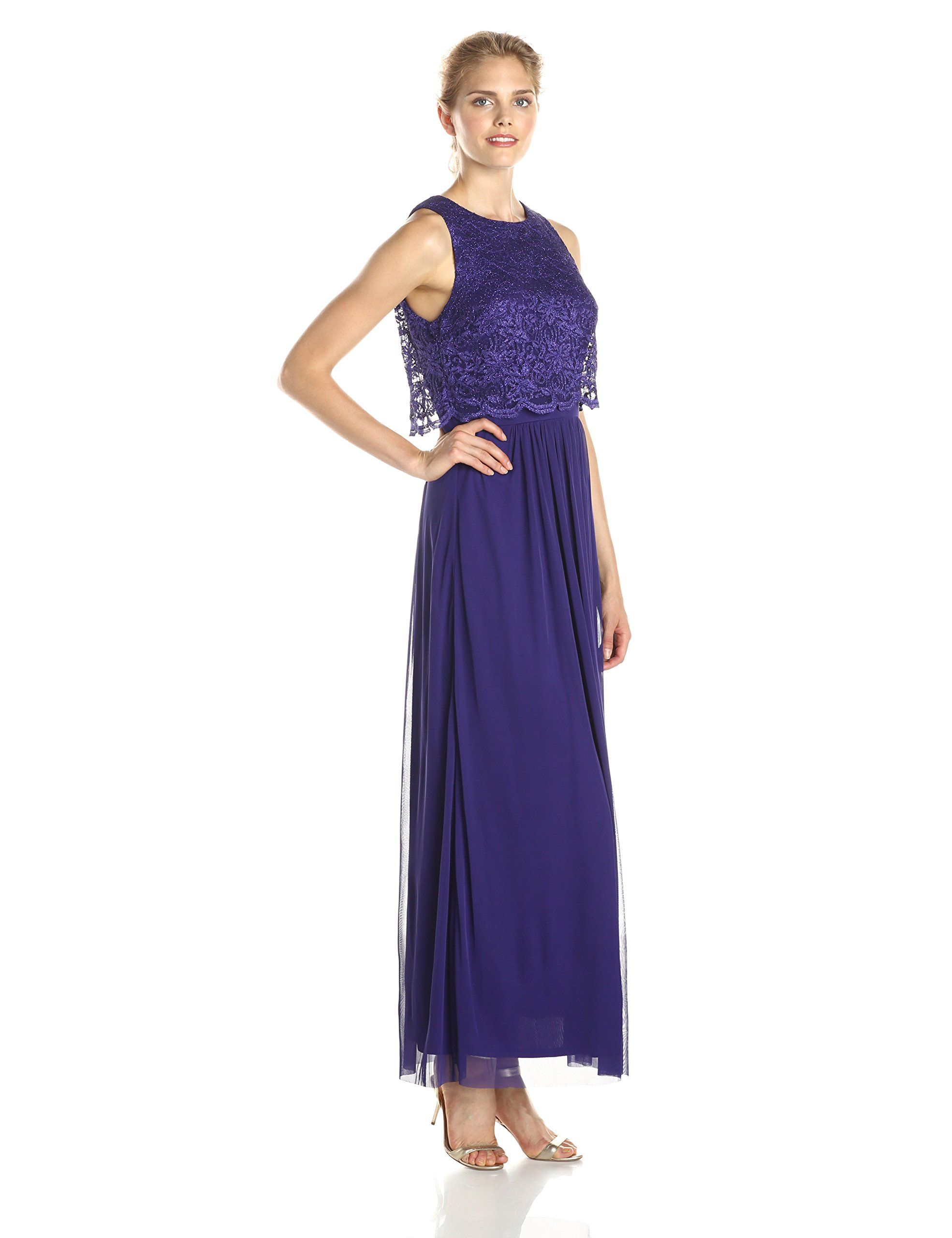 8b83119dd2c Jessica Howard Women s Scalloped Popover Gown at Amazon Women s Clothing  store