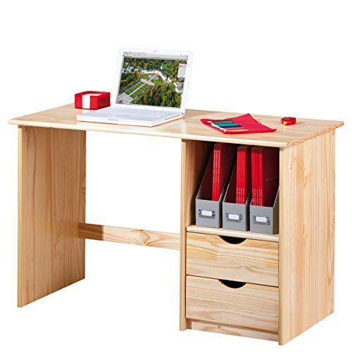 Links Work - Scrivania in legno massello con cassetti ...