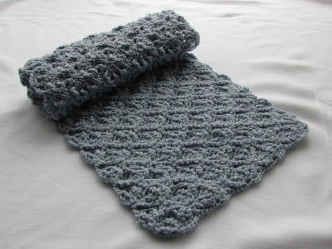 Crochet Pretty Lace Scarf - part 1 (or baby blanket, throw, etc ...