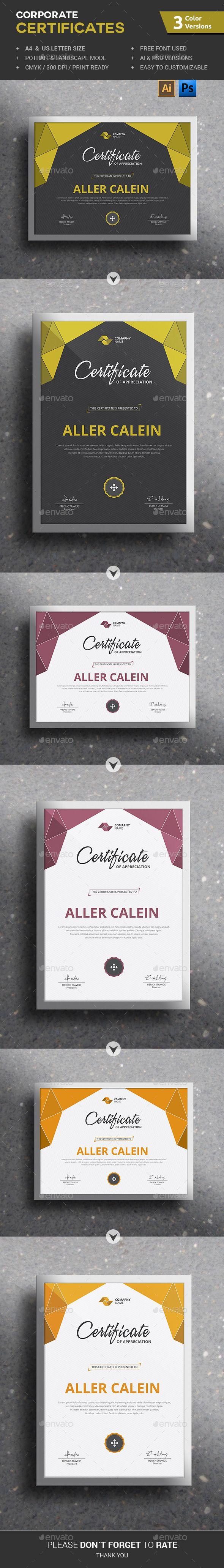 Corporate Certificates | Urkunden