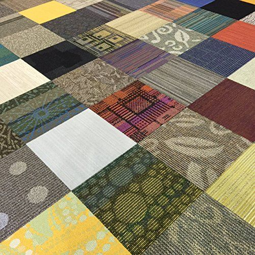 """Assorted Carpet Tiles with Adhesive """"Do It Yourself"""" Backing - Covers 40 Square Feet Nance Industries http://www.amazon.com/dp/B0198QHAKY/ref=cm_sw_r_pi_dp_26Z7wb0K06QS9"""