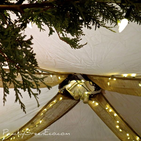 Our Burlap Table Runners Adapted Into Tent Decor With