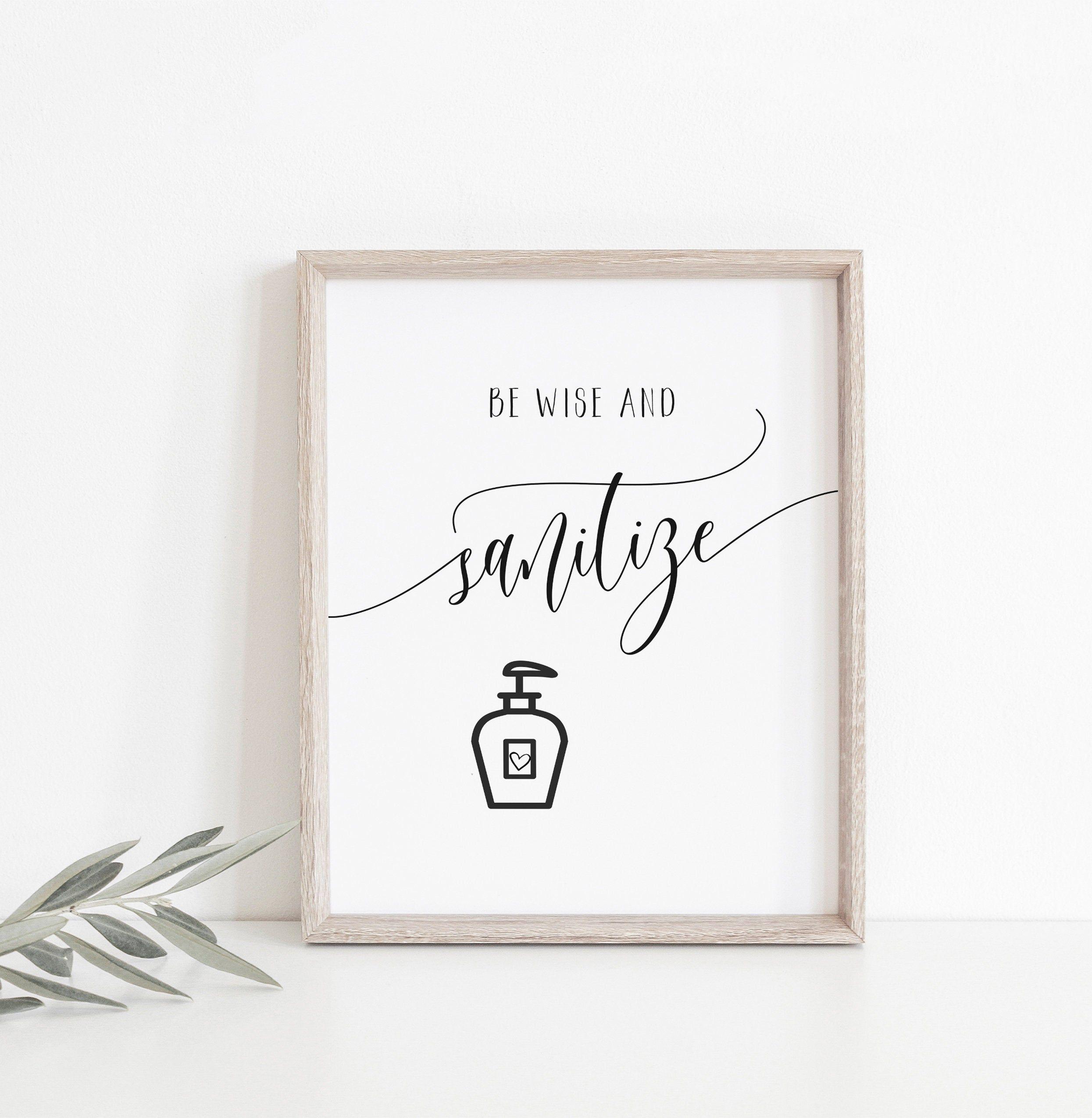 Printable Hand Sanitizer Favor Sign  Digital PDF Download PNGSVG Cutting File  Wedding Favour Signage