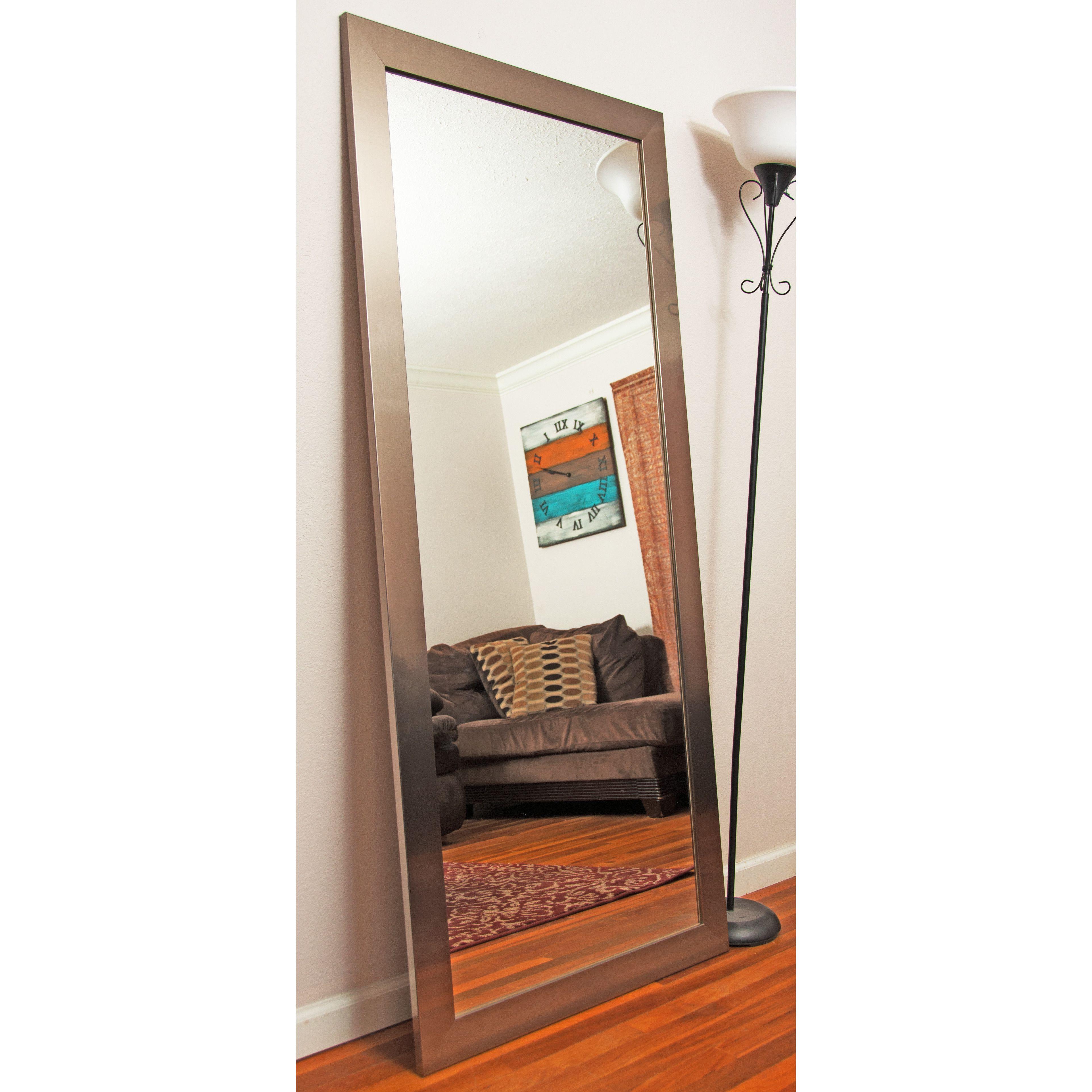 silver floor mirror. Brandt Works LLC Grand Silver Leaning Floor Mirror