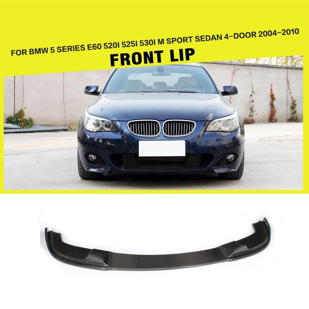 E60 Hm Car Styling Carbon Fiber Front Lip Spoiler Apron For Bmw 5