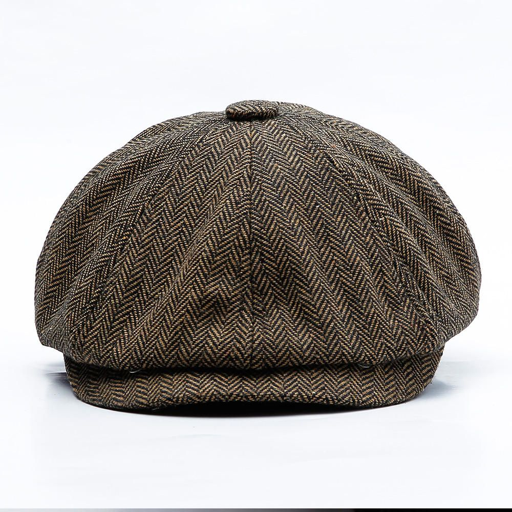 18a0741ff8b6a Men Middle-aged Cotton Newsboy Hunting Hat Beret Caps - Banggood Mobile