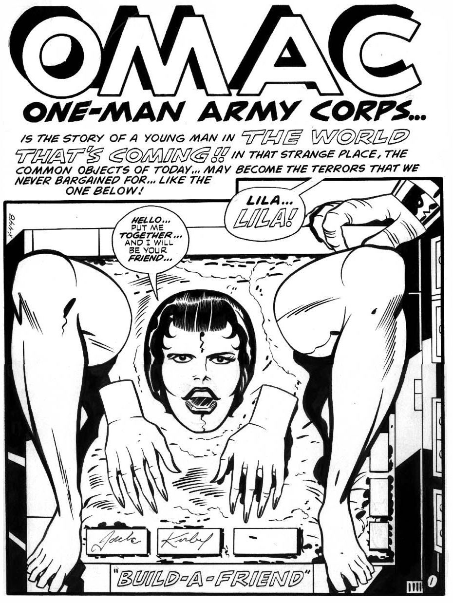 pages 1-3 of OMAC #1 by Jack Kirby and Mike Royer
