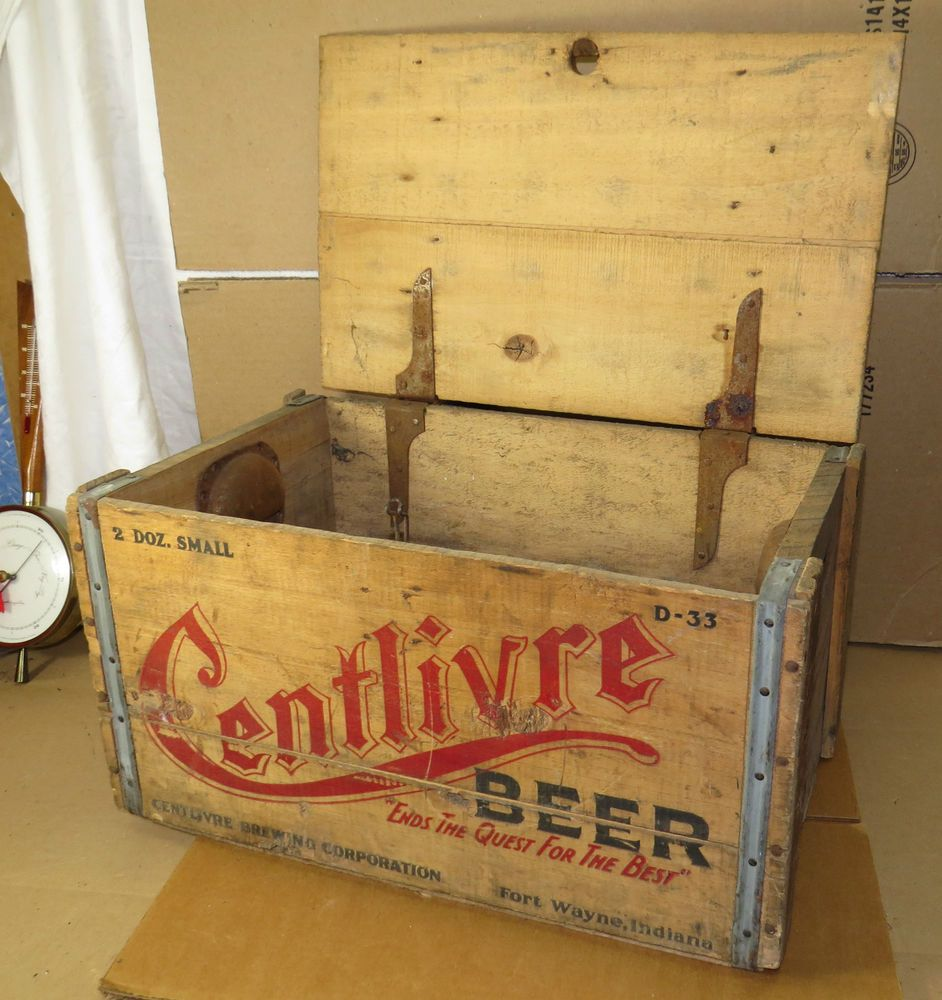 Vintage Centlivre Beer Crate Wood Box And Lid Fort Wayne Indiana Brewing Beer Crate Fort Wayne Indiana Fort Wayne
