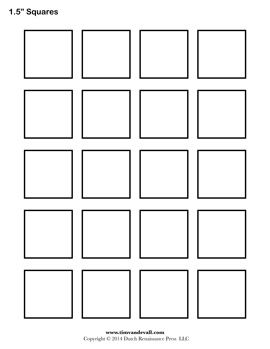 Blank Square Templates