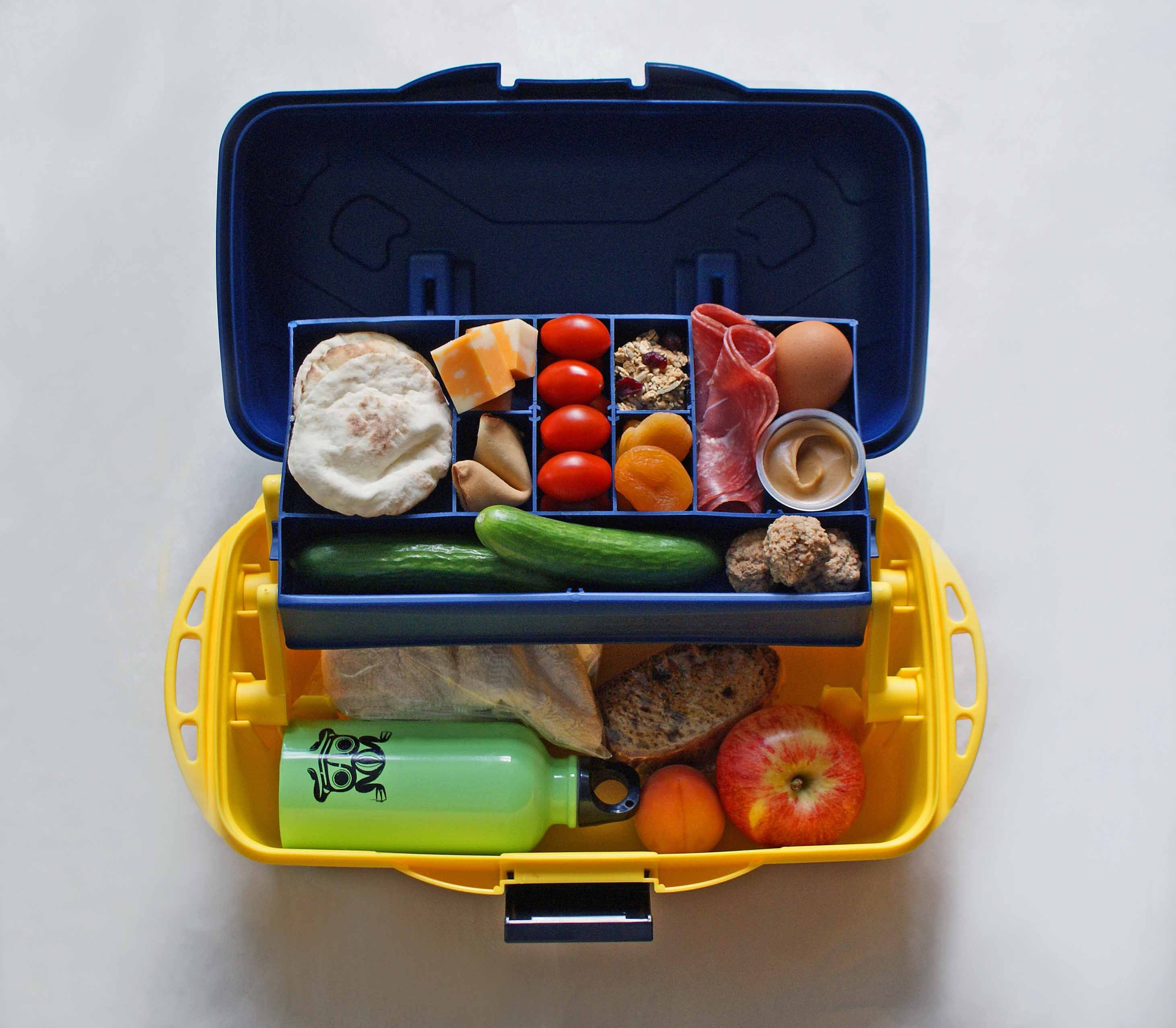 cool tackle box bento box idea for school lunch school prep organization pinterest. Black Bedroom Furniture Sets. Home Design Ideas