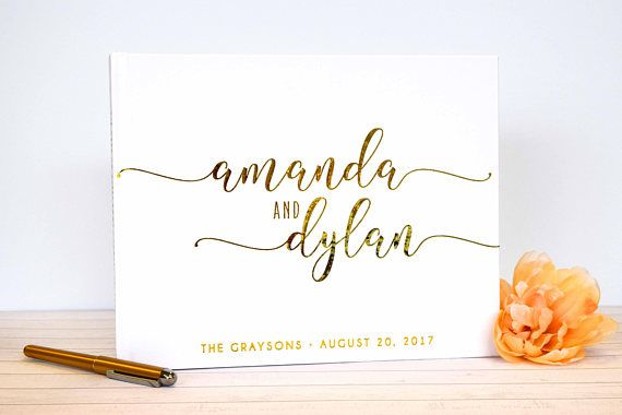 Guest Book Wedding Guestbook Al Custom
