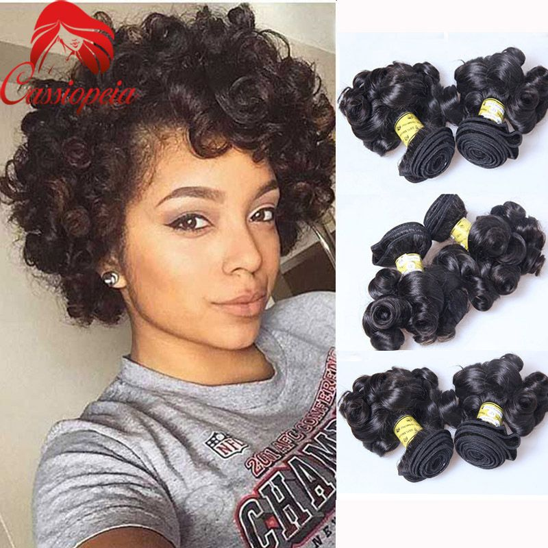 3 Bundles Boucy Curly Weave Short Hair Extensions Short Curly Hair Weave Whatsapp 0086 18766291990 Email S Hair Styles Natural Hair Styles Short Hair Styles