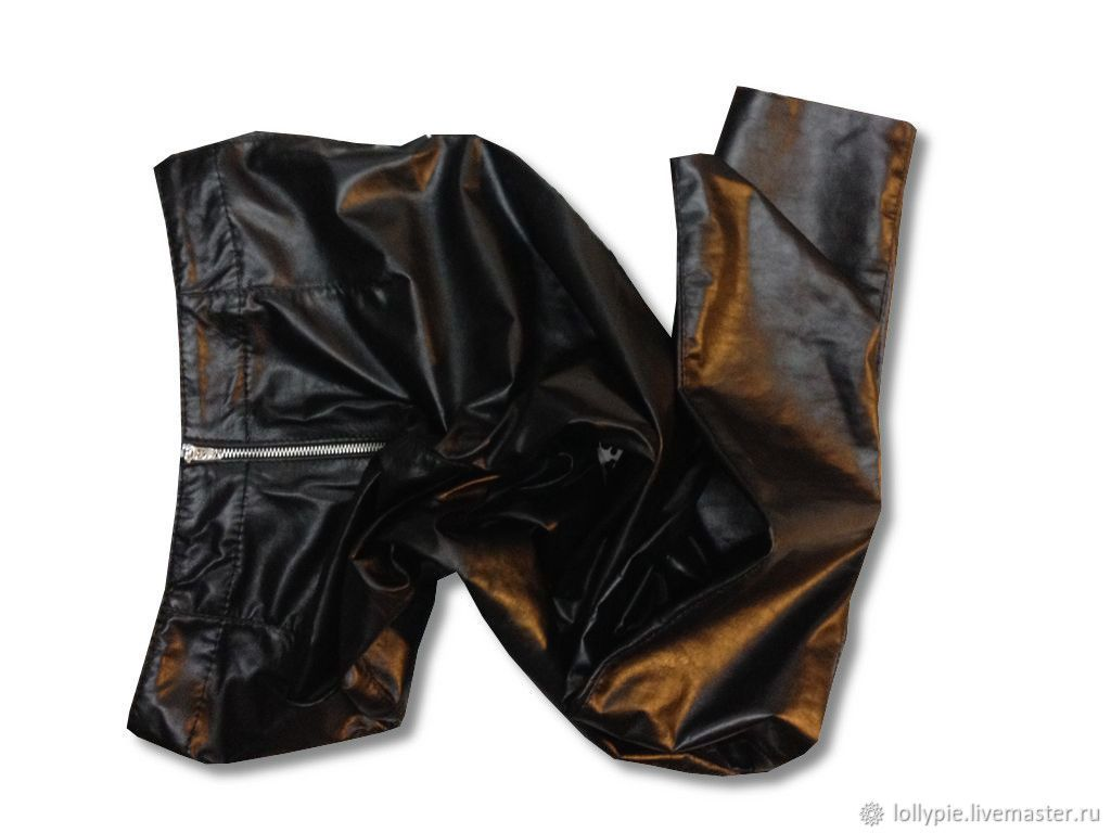 d4fc8ec6e929f7c Брюки, шорты ручной работы. Заказать Леггинсы кожаные черные женские ...