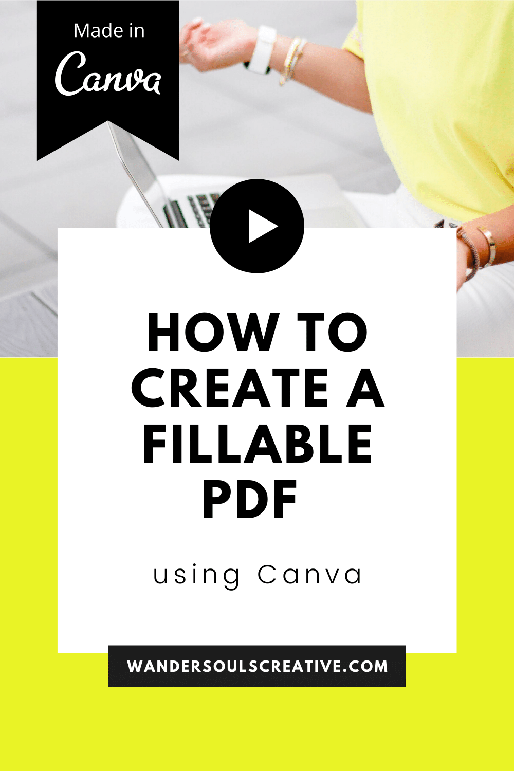 How to create fillable PDF using Canva in 2020 Pdf