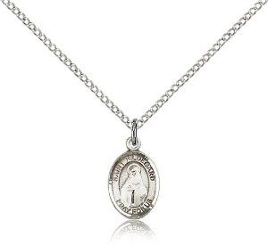 St. Hildegard Von Bingen Medal, Sterling Silver, Small Charm Size Bliss. $40.49. Includes 18 inch sterling silver light curb chain. Made in USA. Sterling Silver. Size 1/2 inch x 1/4 inch