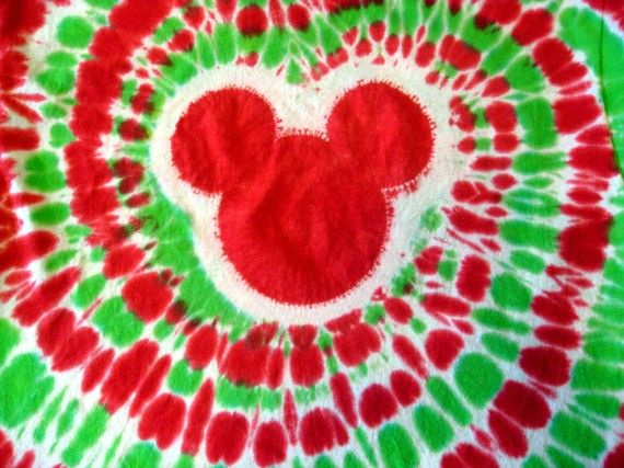 Christmas Tie Dye Fav Mouse T Shirts Family Walt