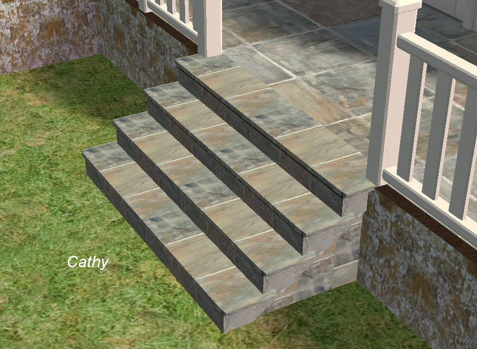 Best Slate Tile On Stairs View Mountain Laurel Handrails At 400 x 300