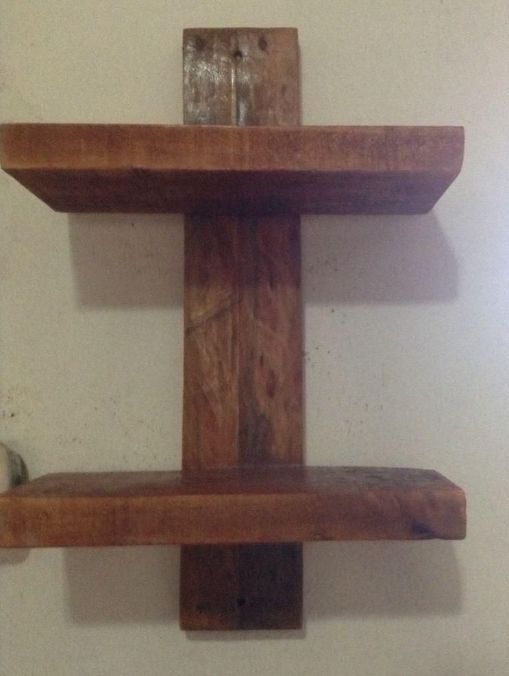 Repisa r stica por helen mendieta carpeta 5 pinterest - Como hacer estantes de madera ...
