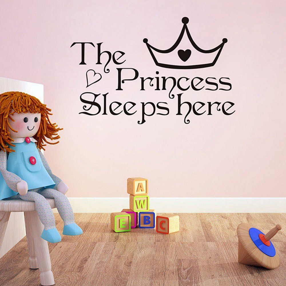 Ieasycan newly design the princess wall stickers sleeps here wall