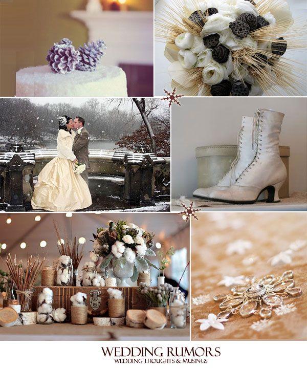 Winter Wedding Centerpieces Bride Groom In The Snow Bouquet