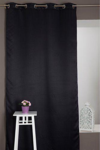 Rideau Occultant Anti Bruit Et Thermique Noir Http Www Amazon Fr