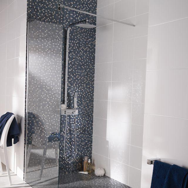 Carrelage Mural Grand Blanc 25 X 40 Cm Castorama Bathroom Sdb Salledebain Carrelage Mural Carrelage Parement Mural