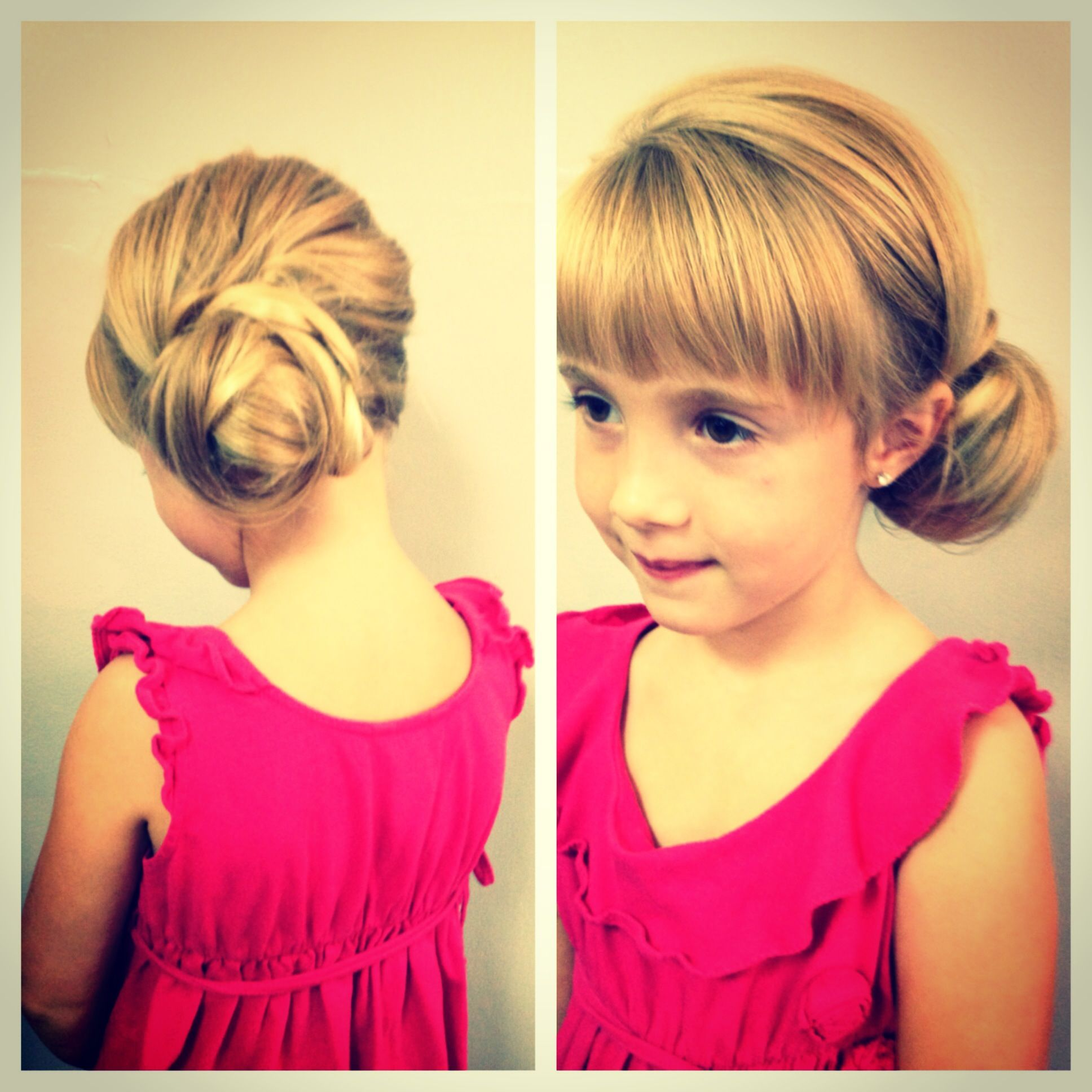 Flower girl side bun too cute hair ideas pinterest hair
