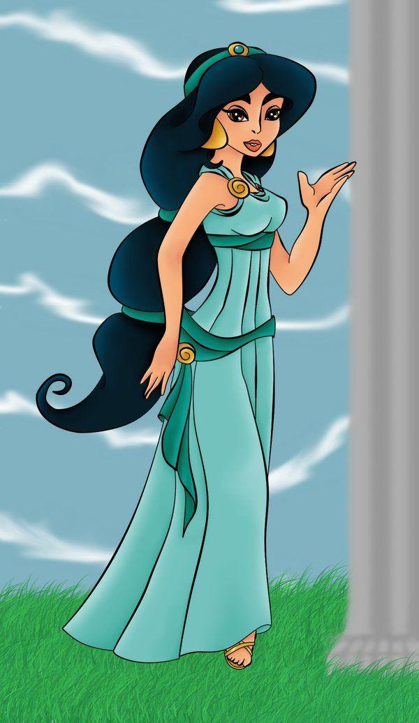 Jasmine+as+Megara+-+Colored+by+Dledee.deviantart.com+on+@deviantART