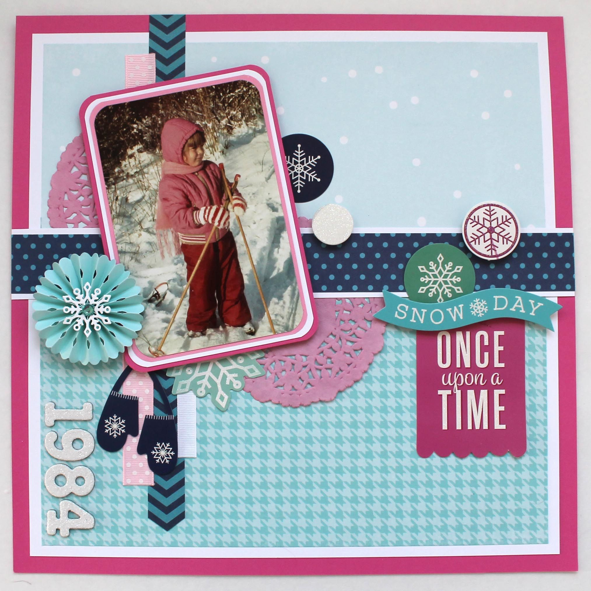 Scrapbook ideas and themes - Snow Day Once Upon A Time Scrapbook Com