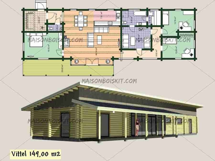 Plan De Maison En Bois Gratuit Faire Construire Sa Maison 8
