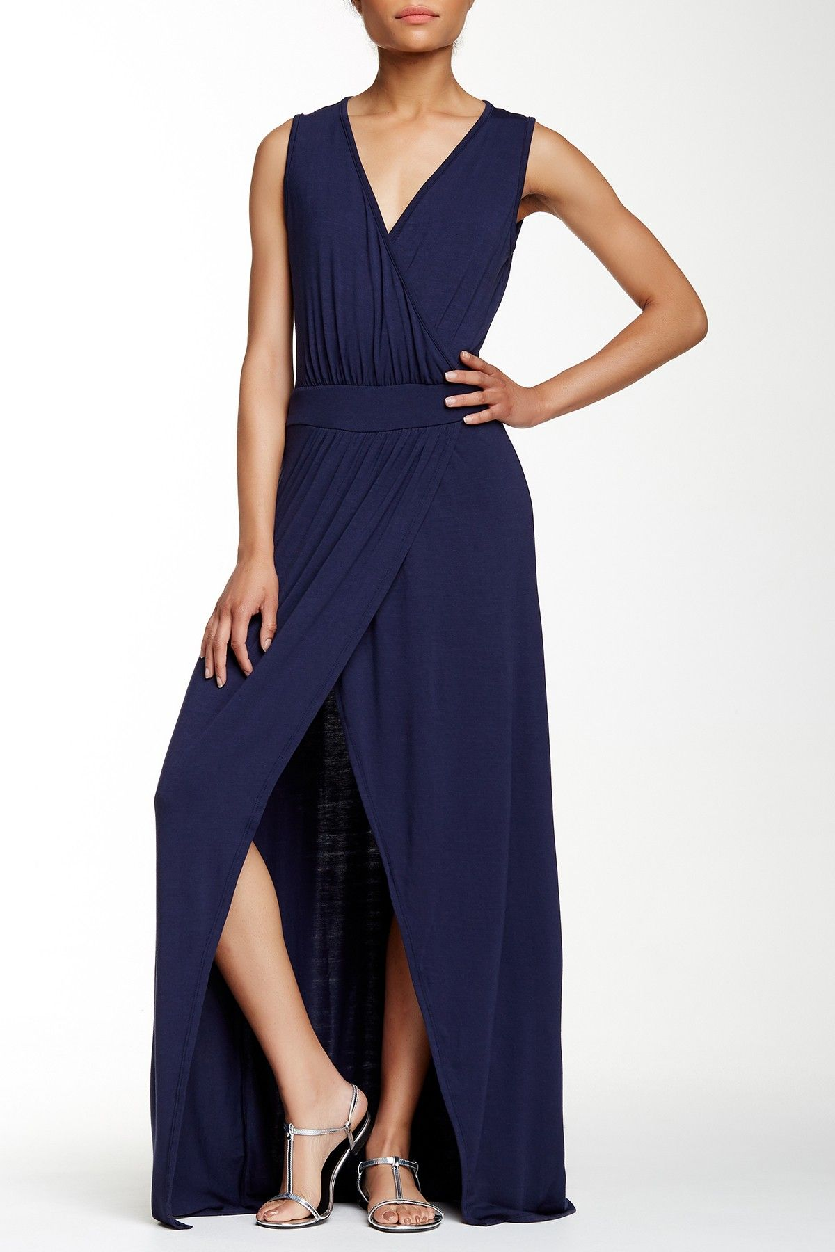 0821ad995d Sleeveless Faux Wrap Maxi Dress by Loveappella on  nordstrom rack