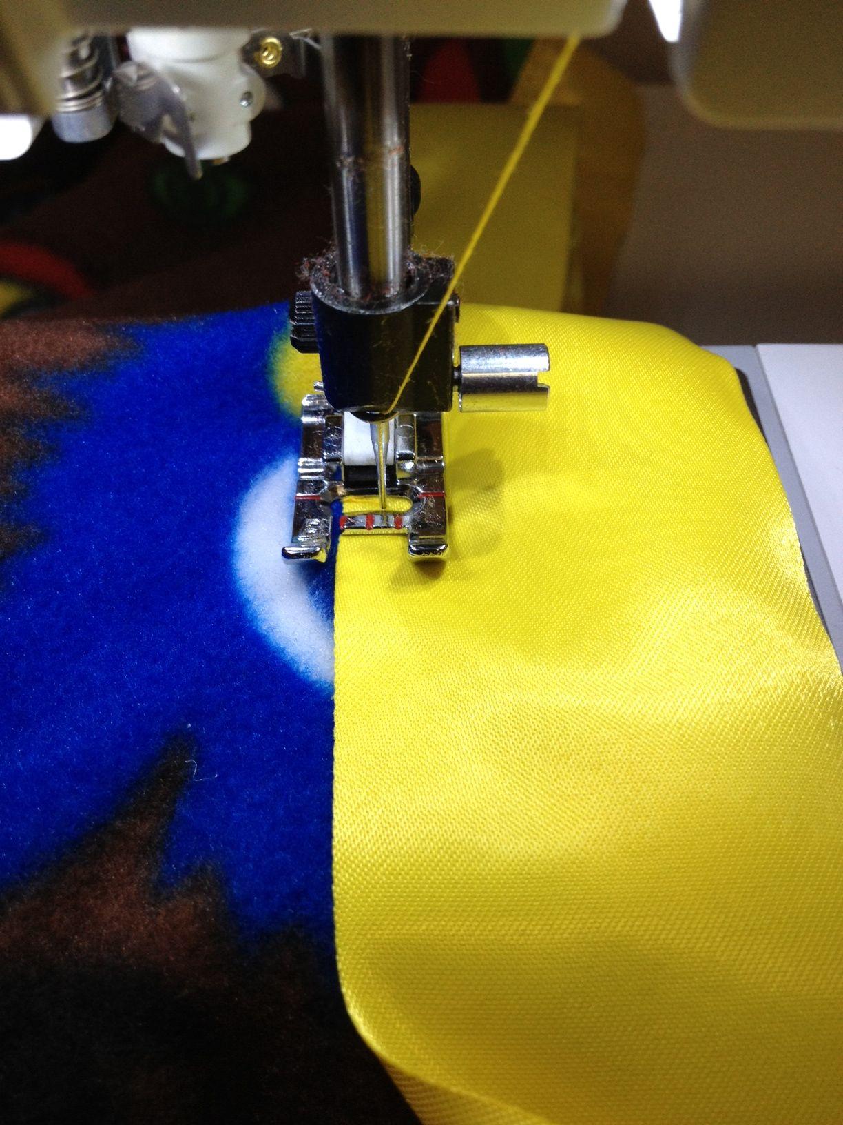 Attaching satin blanket binding sew fun pinterest
