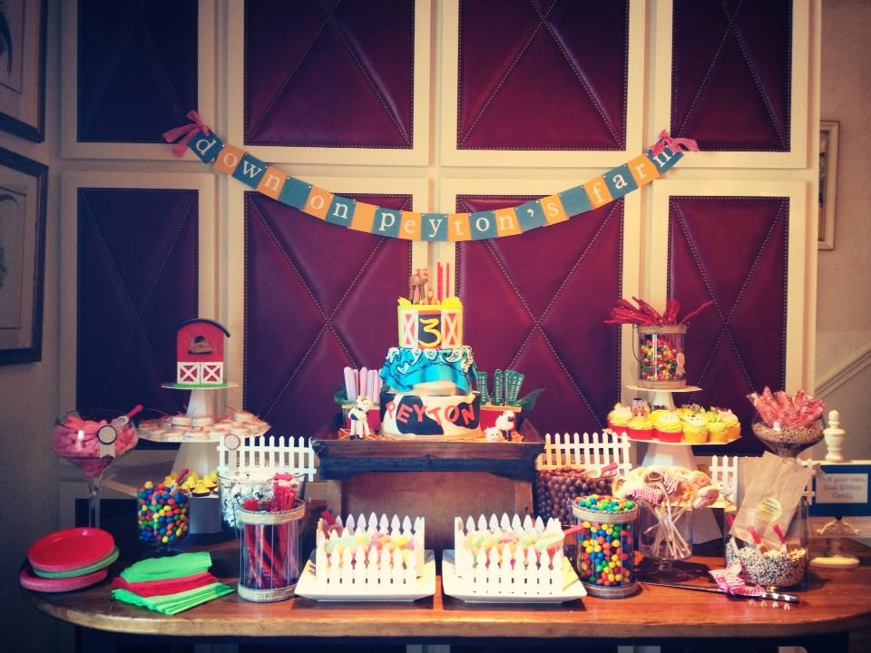 Barn Birthday Party Kids Food Sweet Table planning by Shanna