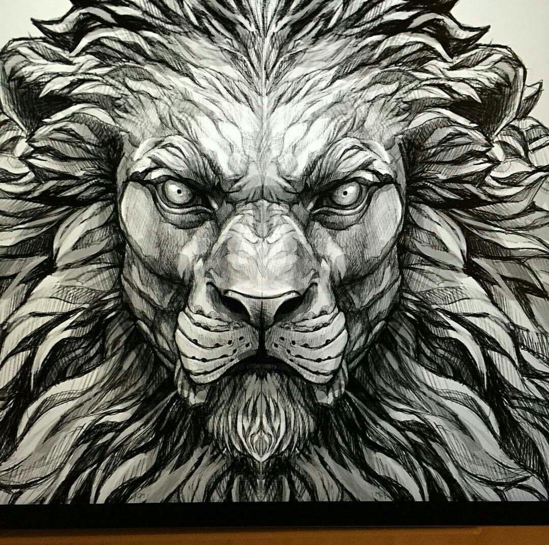 вышлем лев с рогами картинка интернете есть