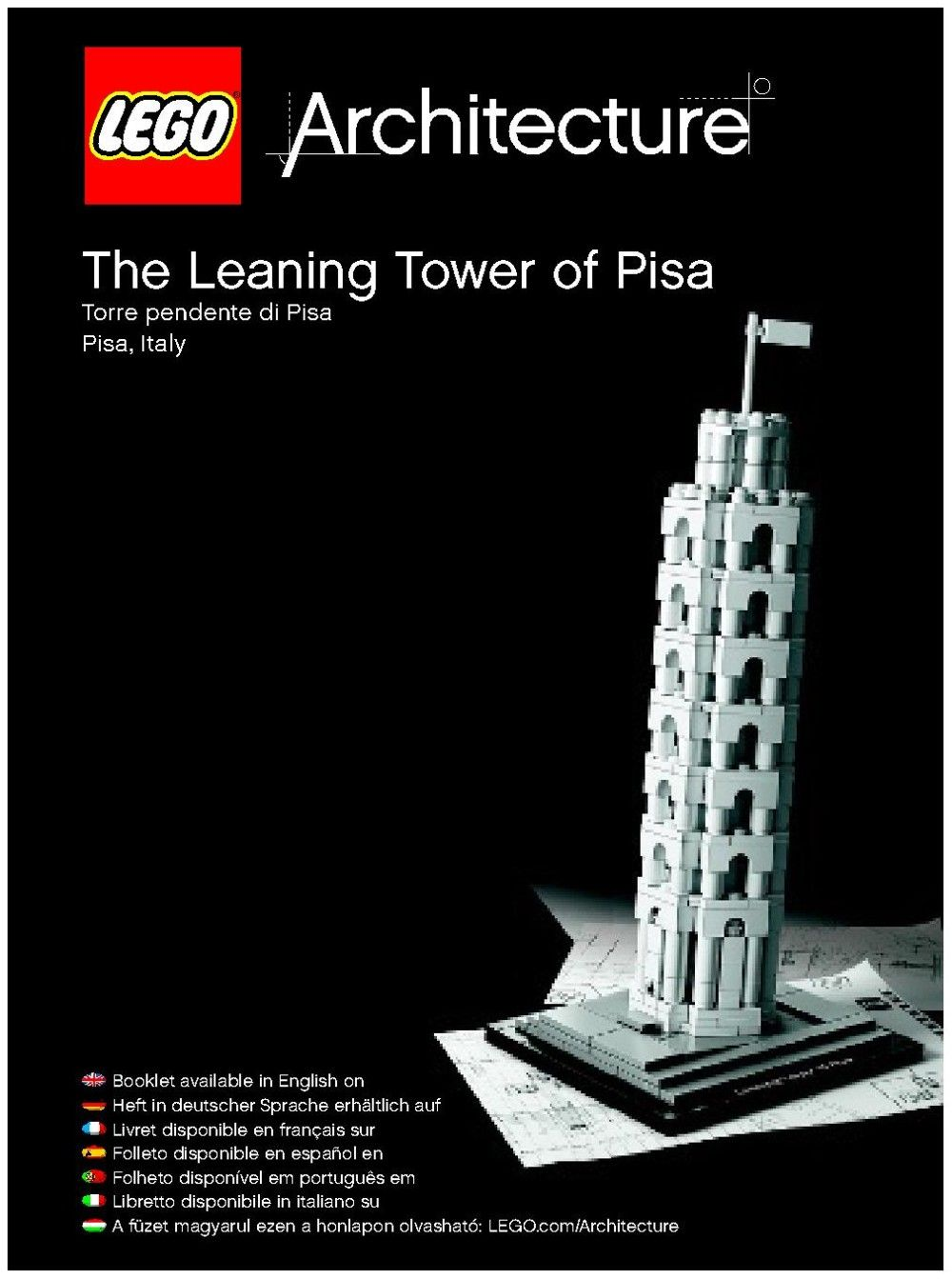 Architecture The Leaning Tower Of Pisa Lego 21015 Erichs