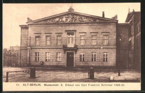 Ak Berlin alte ak berlin haus in der museumstrasse 5 erbaut schinkel 1828