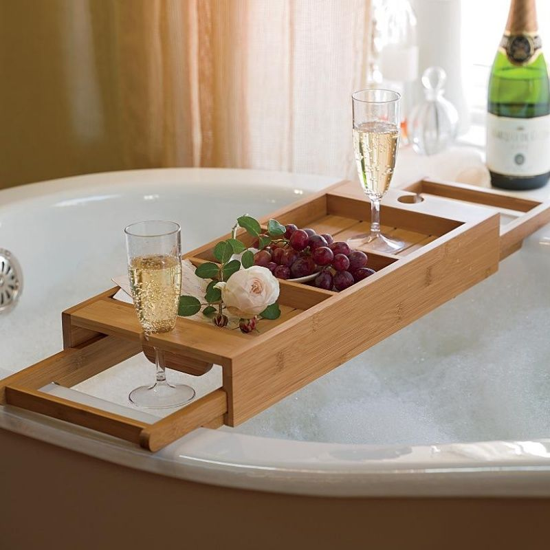 22 Cool Bathtub Caddies or Marvelous Bathtub Tray Design Ideas To ...