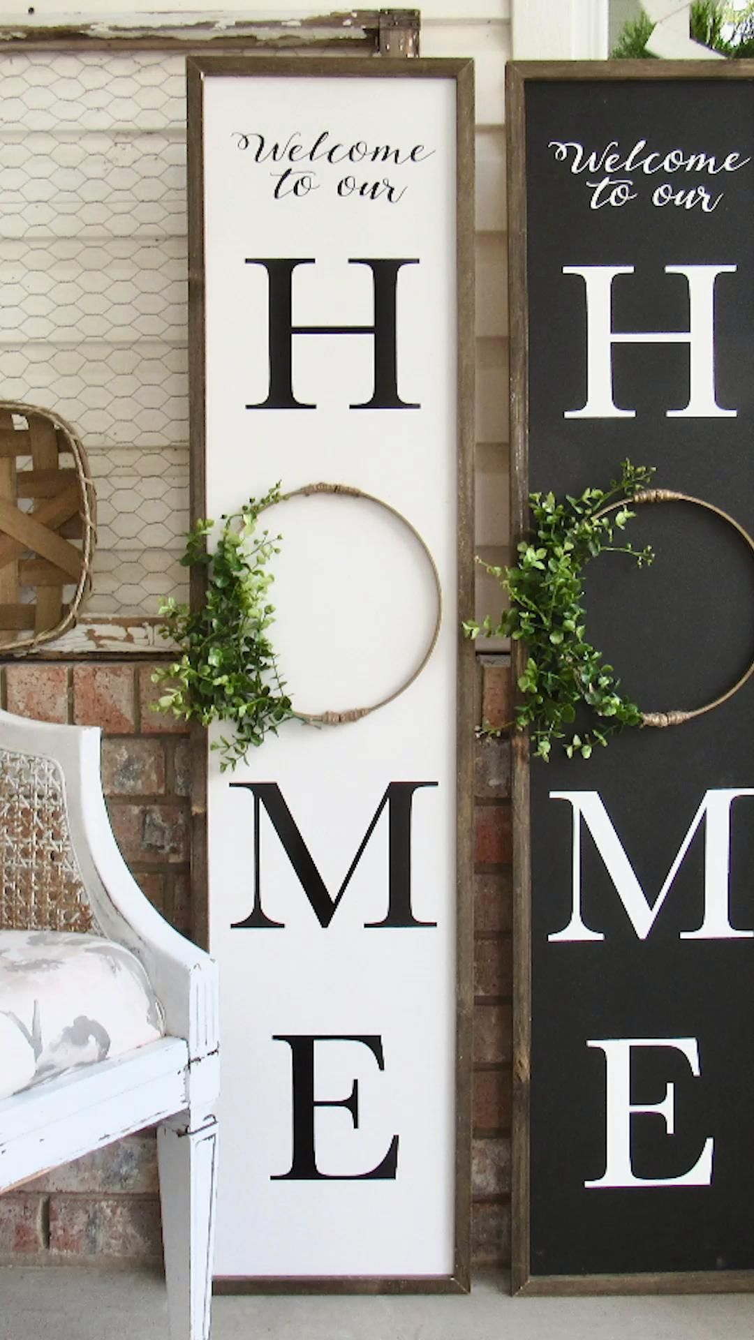 DIY Front Porch Sign (super easy!)