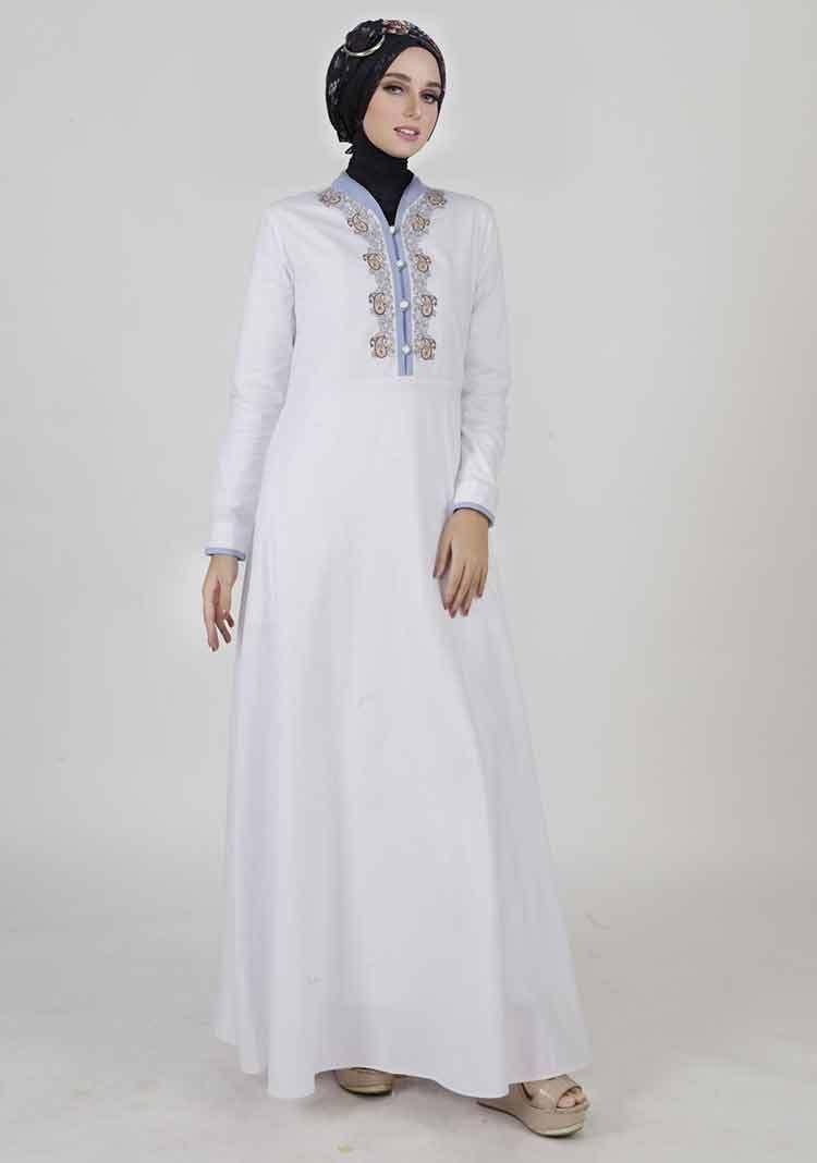 Model Baju Muslim Putih Untuk Lebaran  Baju muslim, Muslim, Model