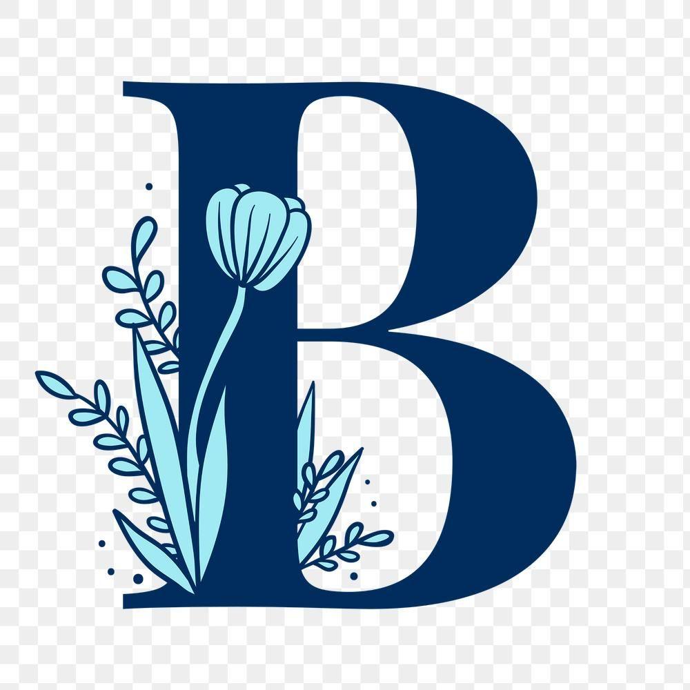 Floral Letter B Png Alphabet Free Image By Rawpixel Com Tvzsu Alphabet Design Floral Font Lettering Alphabet Fonts