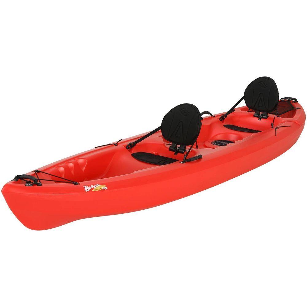 Lifetime 12 Beacon Sit On Top Tandem Kayak Red Water Rafting