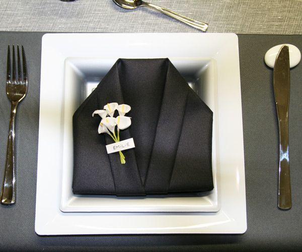 Résultats Google Recherche d'images correspondant à http://idata.over-blog.com/3/95/37/61/table-blanc-gris-noir/Pliage-de-serviette-kimono-noir-2.jpg