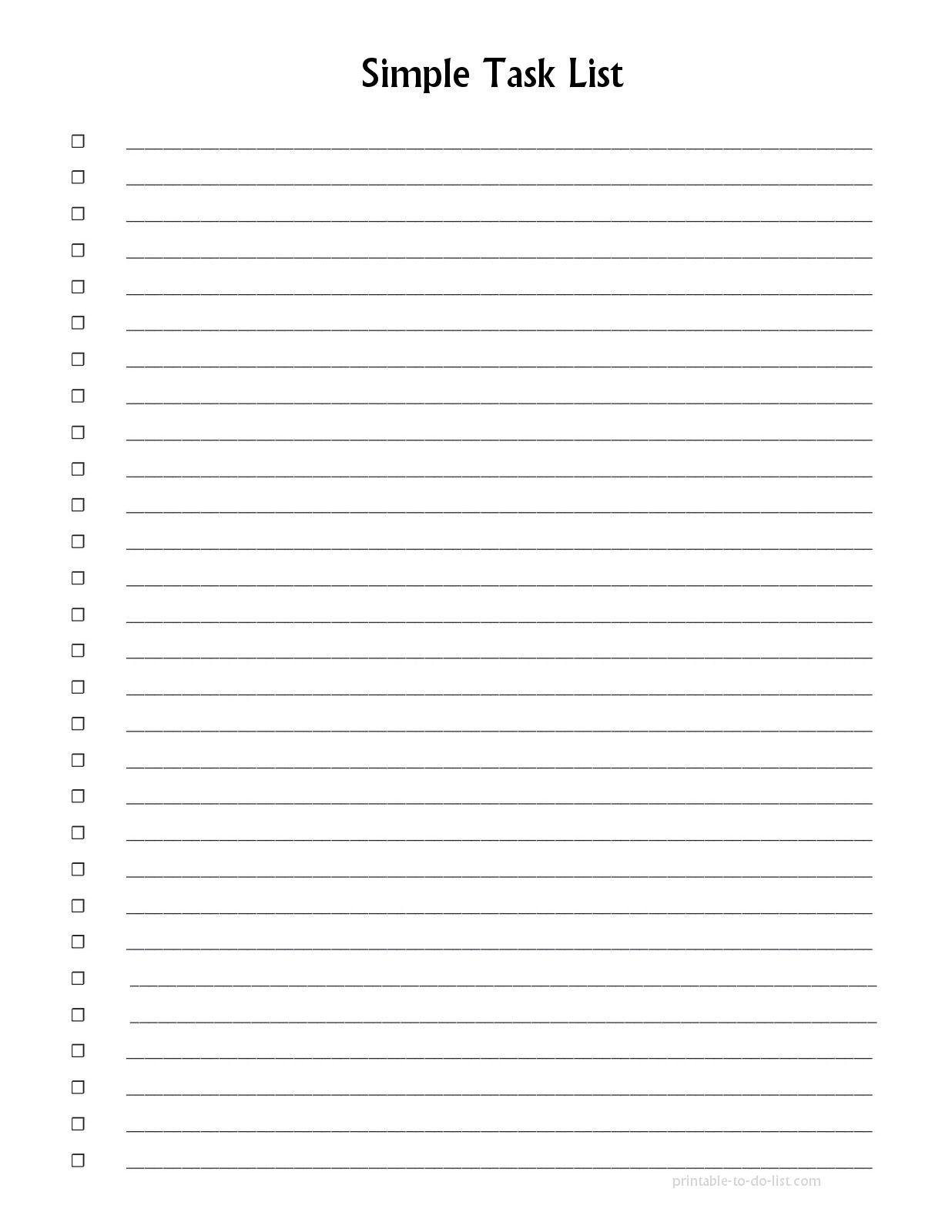 Pretty Printable List