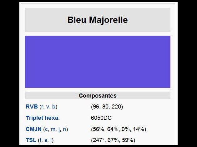 Composition Bleu Majorelle Mes Coups De Coeur Color Painting Art