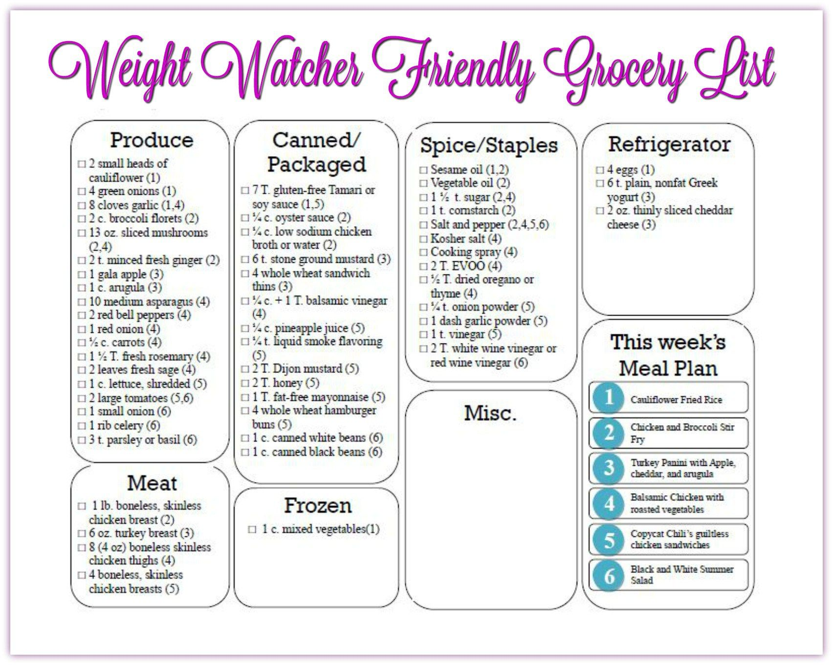 weight watcher meal plan with smart points 11 with old smart points
