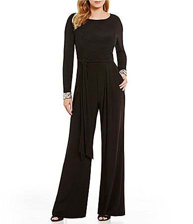 Vince Camuto Beaded Cuff Long Sleeve Jumpsuit Dillards He Sells