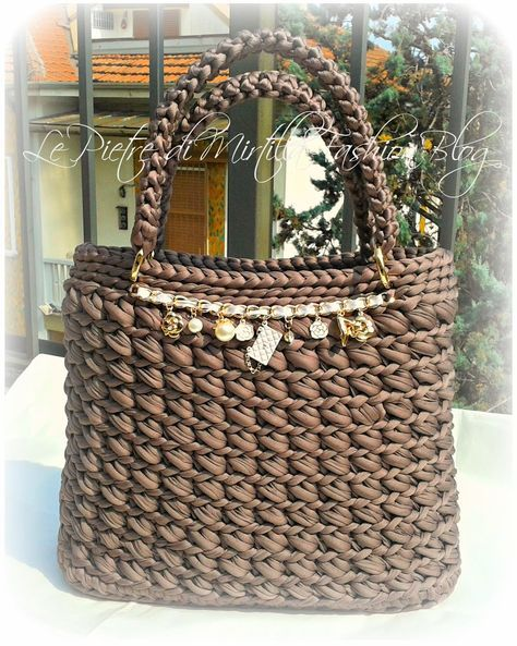 сумки косметички Borse E Accessori Alluncinetto Crochet Purses