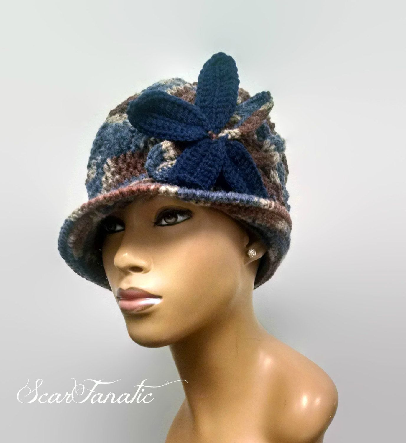PATTERN ONLY Cabled Cloche/Flapper hat hand knit and basic crochet ...